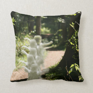Woodland Fairies in Enchanted Forest Throw Pillow