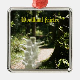 Woodland Fairies Metal Ornament