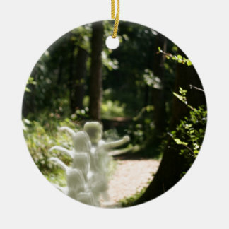 Woodland Fairies or Angels in the Woods Ornament