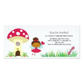 """Woodland Fairy Birthday Party Invitations 4"""" X 9.25"""" Invitation Card"""