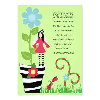 Woodland Fairy Birthday Party Invitations