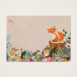Woodland Fairy Blank  Table Seating Flat card