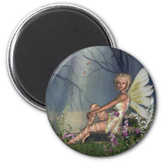 Woodland Fairy 2 Inch Round Magnet