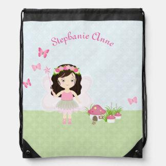 Woodland Fairy Princess Drawstring Bag