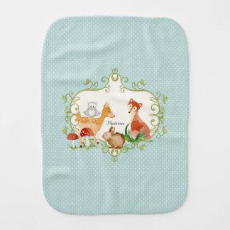 Woodland Fairy Tale Forest Animals Nursery Throw Burp Cloth