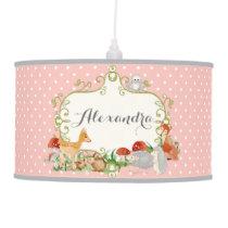 Woodland Fairy Tales, Princess Girls Nursery Decor Pendant Lamp