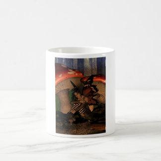 Woodland fairy under mushrooms classic white coffee mug