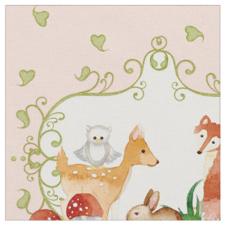 Woodland creatures pattern gifts 400 gift ideas zazzle for Boy nursery fabric