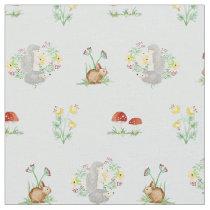 Woodland Fairytale Creatures Baby Girl Nursery Fabric