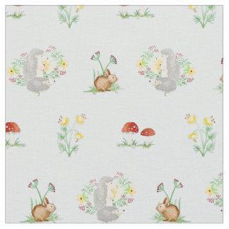 Woodland fairy tale fairytale fabric zazzle for Baby nursery fabric