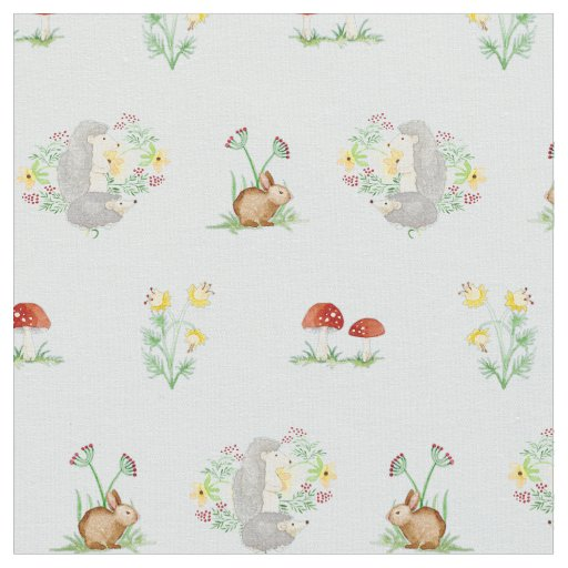 Woodland fairytale creatures baby girl nursery fabric for Nursery fabric