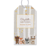 Woodland Fall / Winter Baby Shower Favor Gift Tags