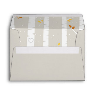 Woodland Fall / Winter Baby Shower matching Envelope
