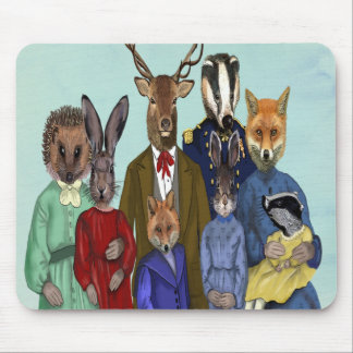 Woodland Family Mouse Pad