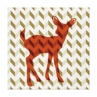 Woodland fawn Canvas Wrap