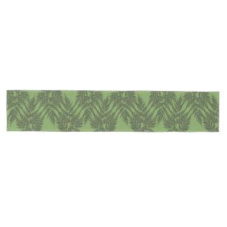Woodland Fern Silhouette Pattern Medium Table Runner