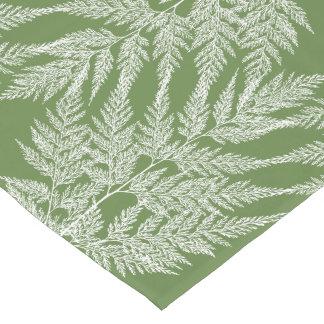 Woodland Fern White Silhouette Pattern Short Table Runner