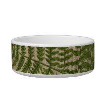 woodland foliage french botanical print fern bowl