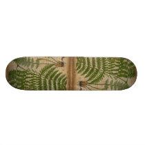 woodland foliage french botanical print fern skateboard