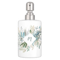Woodland Foliage with Monogram Bath Set