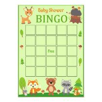 Woodland Forest Animal Baby Shower Bingo Card