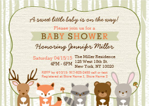 Forest baby shower invitations zazzle woodland forest animal baby shower invitation filmwisefo
