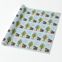 Woodland Forest Animal Baby Shower Wrapping Paper