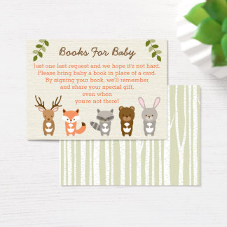 Woodland Forest Animal Book Request Cards