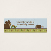 Woodland Forest Animal Favor Gift Tags