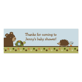 Woodland Forest Animal Favor Gift Tags Double-Sided Mini Business Cards (Pack Of 20)