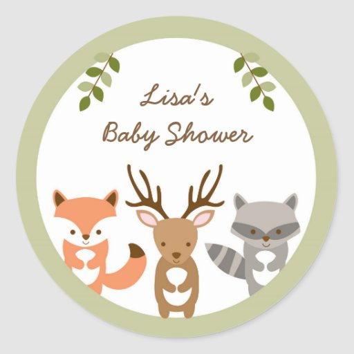 Woodland Forest Animal Stickers
