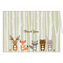 Woodland Forest Animal Thank You Card