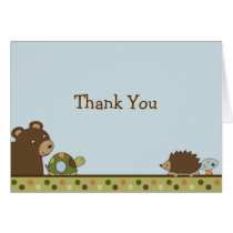 Woodland Forest Animal Thank You Note Cards