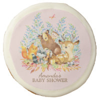 Woodland Forest Animals  Baby Shower Favor Cookie
