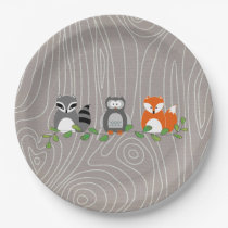 Woodland Forest Animals Paper Plate