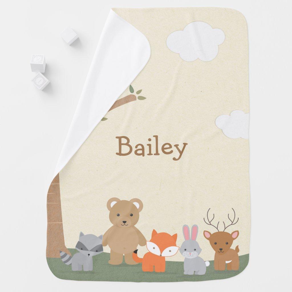 Woodland Forest Animals Receiving Blanket