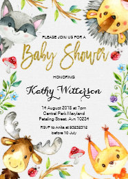 Forest baby shower invitations announcements zazzle woodland forest baby shower invitation filmwisefo Images