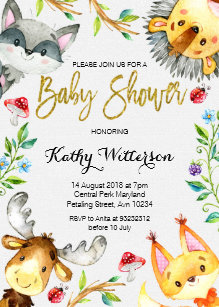 Forest baby shower invitations zazzle woodland forest baby shower invitation filmwisefo