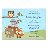 Forest baby shower invitations announcements zazzle woodland forest baby shower invitations filmwisefo Images