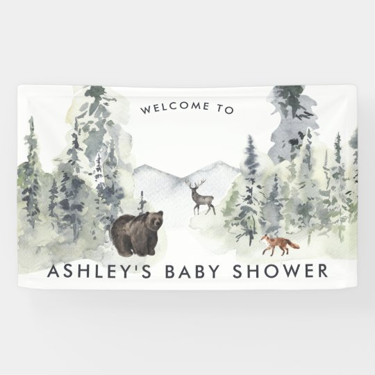 Woodland Forest | Baby Shower Welcome Banner
