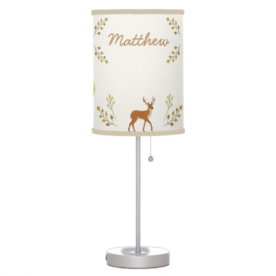 Woodland Forest Deer Kids Nursery Lamp