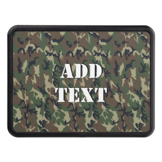 Woodland Forest Military Camouflage Trailer Hitch Cover