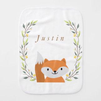 Woodland Fox Baby Burp Cloth