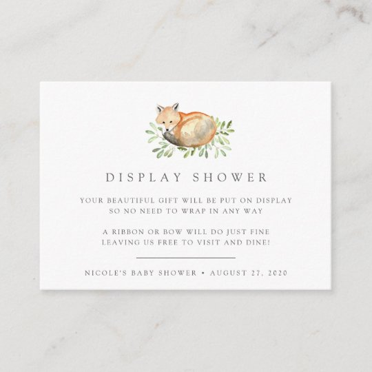 a1c5b3957393 Woodland Fox Baby Shower Book Request Cards