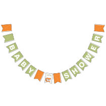 Woodland Fox Baby Shower Bunting Flags