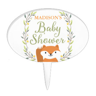 Woodland Fox Baby Shower Cake Topper