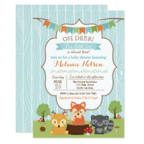 Woodland Fox Baby Shower Invitation Oh Deer