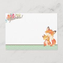 Woodland Fox Baby Shower Thank You Card