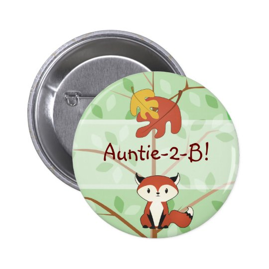 Woodland Fox Button