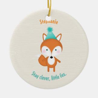 Woodland Fox Ceramic Ornament